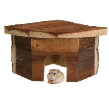 Wooden Warmer Corner House For Hamsters Hedgehogs Mice