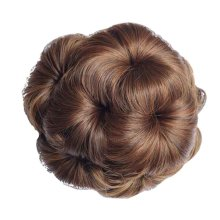 Fake Hair Bun with Hair Clip, Easy to Wear [Light Brown]