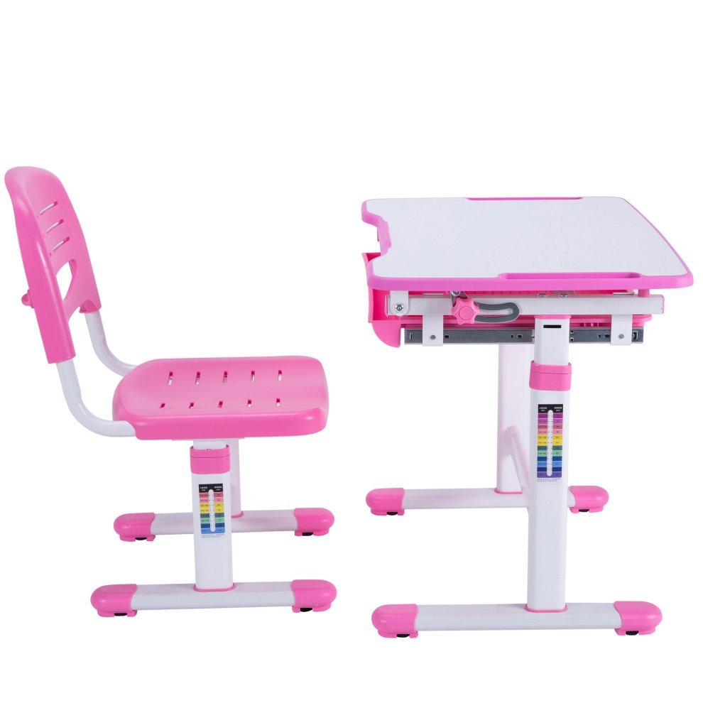 Mini Height Adjule Pink Kids Desk Chair
