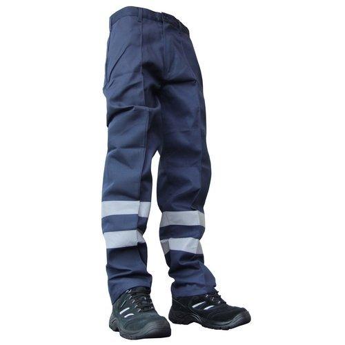 "Click PCNT27N30 Polycotton Nylon Patch Work Trousers Navy Blue 30"" Regular"