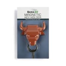 Go Bull Nose Keyring Clip -  magnetic bull nose keyring holder red gamago clip black