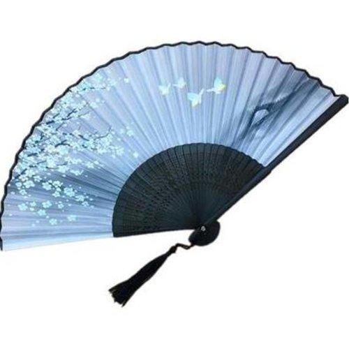 Handheld Folding Fan Handheld Fan Aya Silk Chinese/Japanese Silk Folding Fan
