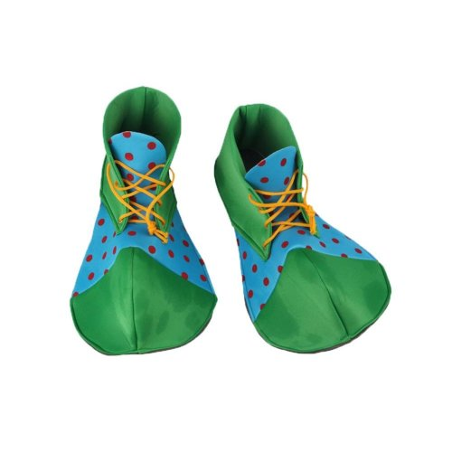 Cloth Clown Shoes Pretend Games Shoes For Adults Party Clown Costume Supplies, Blue and Green