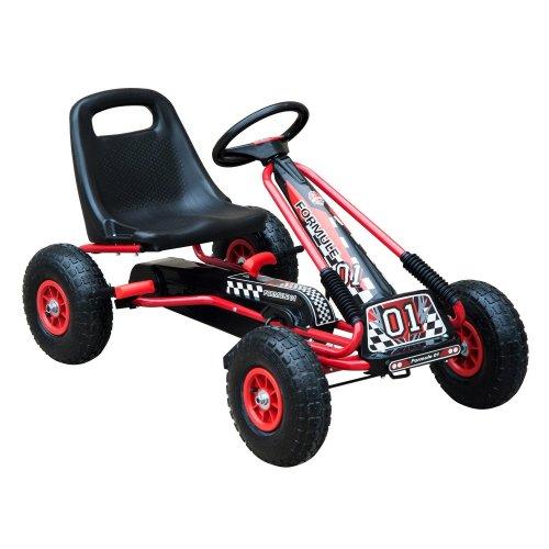 Homcom Kids' Pedal Go-Kart With 2 Gears | Kids' Go-Kart