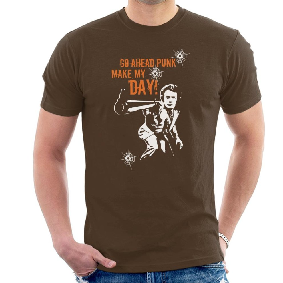 4740f6c0a6992 Go Ahead Punk Make My Day Dirty Harry Men's T-Shirt