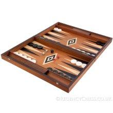 Manopoulos Luxury Mahogany Backgammon Set
