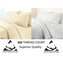 Egyptian Cotton 800 Thread Count Fitted Bed Sheet Bed Linen
