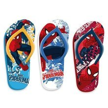Marvel Avengers Assemble Childrens Character Flio Flops (8-9, Red) - Flip -  childrens flip flops marvel spiderman 67 sizes 89 1011 1213