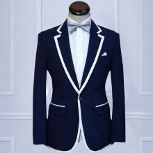 【Handmade】 Custom Mens Suit wool blend 2piece Wedding Suit