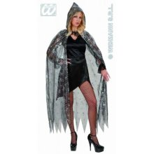 Hooded Spiderweb Cape Accessory For Superhero Super Hero Fancy Dress -  fancy dress cape hooded spiderweb accessory superhero halloween
