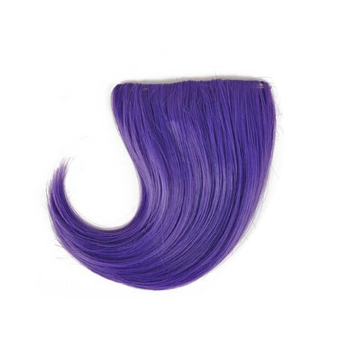 Colorful Wigs for Cosplay,Stage/Party Wig/Hair Bangs Wig,Purple