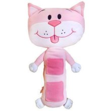 Pink Cat Seat Belt Cushion Pad | Kids' Car Pillow Toy