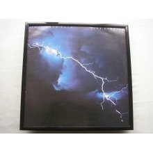 DIRE STRAITS Love Over Gold LP cover framed for wall mounting BLACK