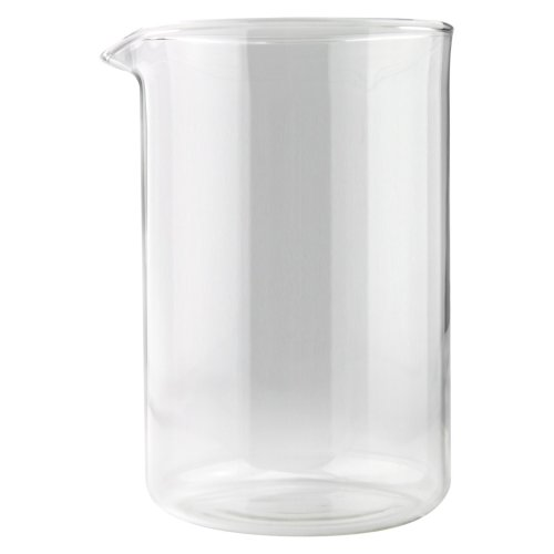 Café Ole Cup Spare Replacement Glass Beaker Suitable For Grunwerg Classic Cafe Ole Cafetieres, 12 Cup