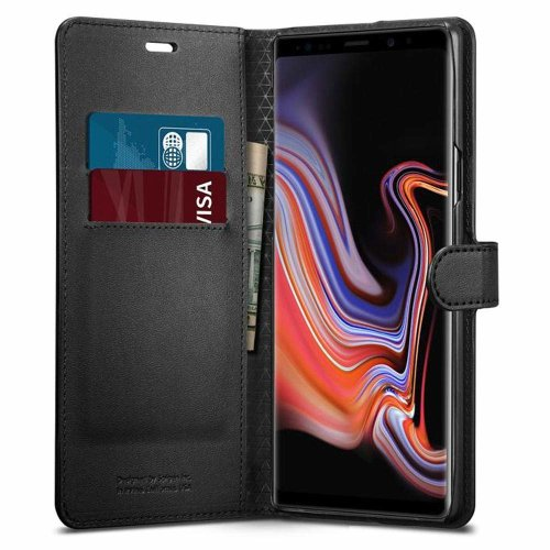 promo code e07d6 61188 Spigen [Wallet S] Galaxy Note 9 Case with Foldable Cover and Kickstand  Feature for Galaxy Note 9 (2018) - Black