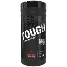 Tough Heavy Duty Hand Wipes - Tub of 70