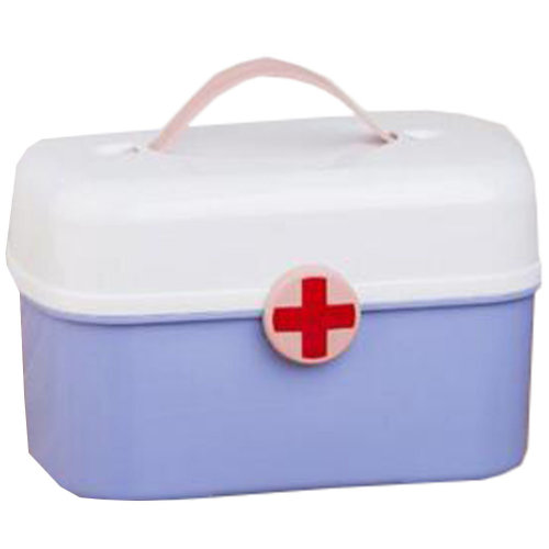 Portable Household First-Aid Kit/Medicine Storage Box Pill Organizer Blue