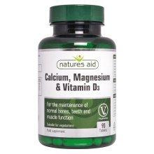 Natures Aid Calcium  Magnesium + Vit D3 90 Tabs