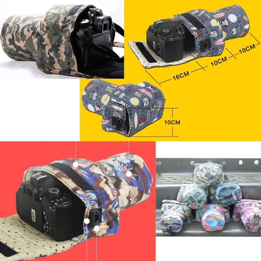 East Majik Camera Lens Bag DSLR Lens Pouch SLR Lens Bag
