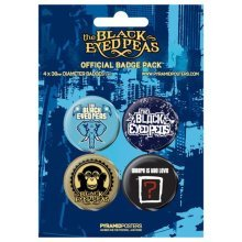 Black Eyed Peas - Badge Pack - Pack Of 4 X 38mm Badges - Brand New - Set -  black eyed peas set 4 38mm badge official new badges band merchandise x