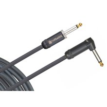 Planet Waves PW-AMSGRA-15 American Stage Instrument Cable, Right Angle, 15 feet