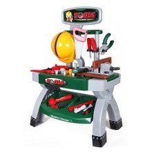 Childrens Work Bench Kids Play Set Tools DIY Tool Kit with 45+ Construction Toy