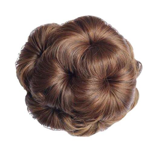 Fake Hair Bun with Hair Clip, Easy to Wear [Light Brown]