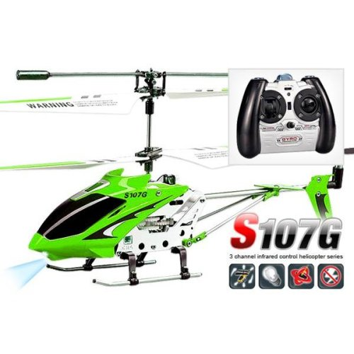 Syma S107G Infrared Controlled Helicopter with Gyroscopic Stability Control - Green