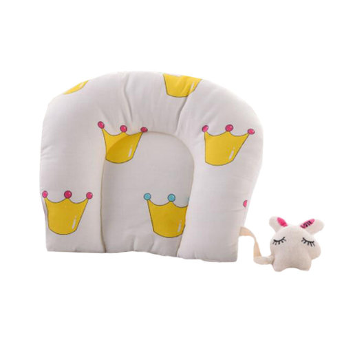 Cute Soft Pillow For 0-1 Years Cotton Prevent Flat Head Small Pillows,  #4
