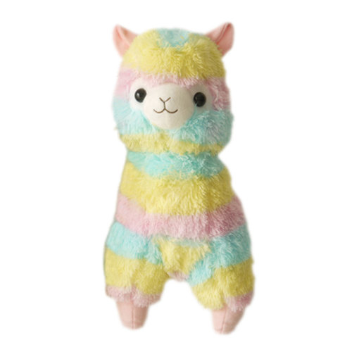 "Plush Doll for Kids Rainbow Lamb Plush Toy Ideas Stuffed Alpaca (H) 11.8"""