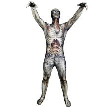 The Zombie Morph Monster Adult Unisex Cosplay Costume Morphsuit - Medium - Multi-Colour (MLMZOM-M)