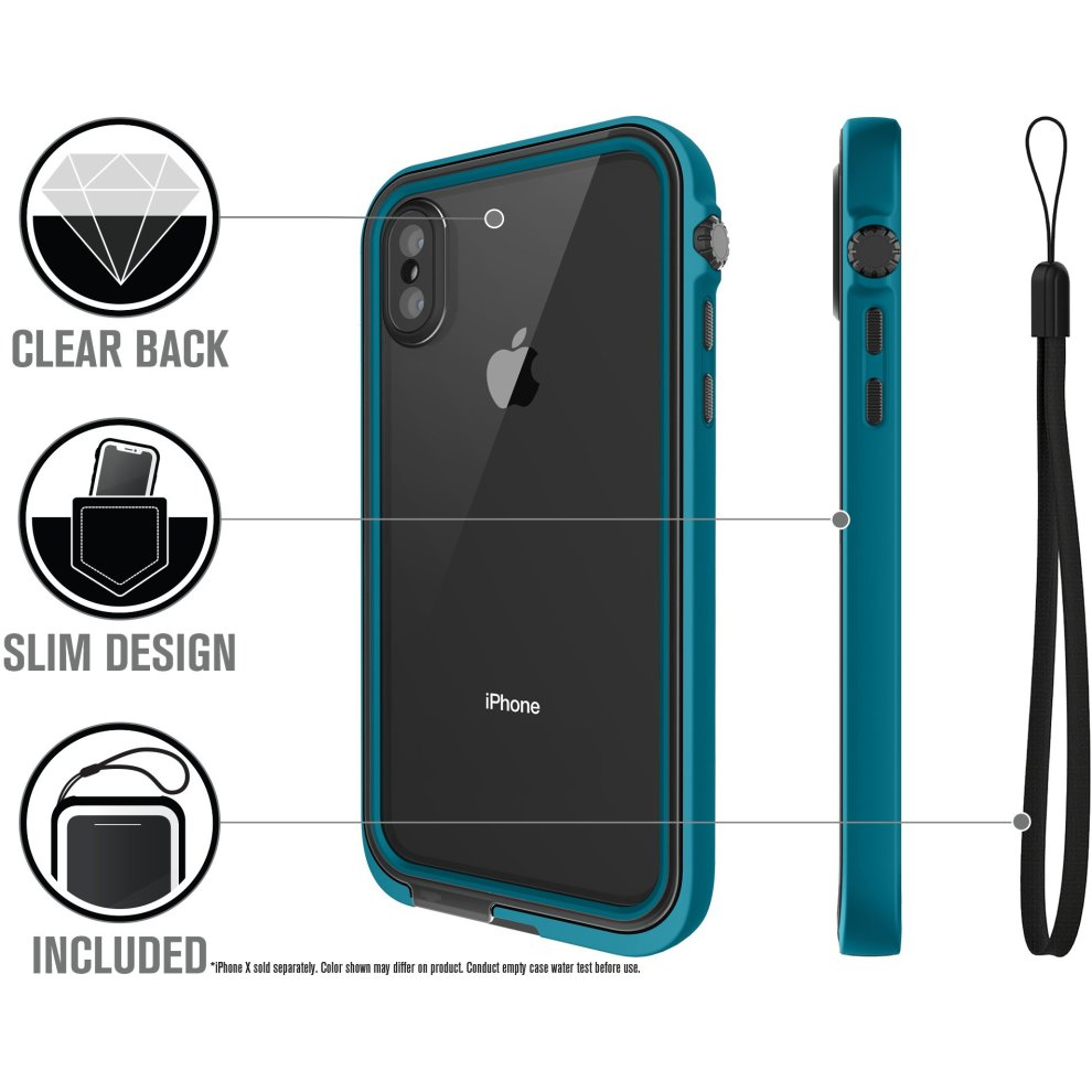 online store c97d3 0cafb Catalyst® Waterproof Shock Resistant Case for iPhone X (Glacier Blue) - Not  compatible with iPhone Xs