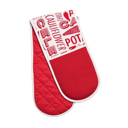 Porter Double Oven Glove - Red