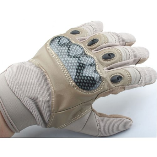 Airsoft  Gloves  Tan De Sand Xl Knuckle Protector Carbon