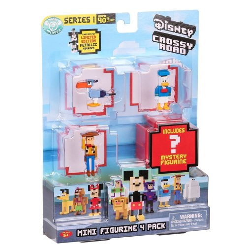 Disney Crossy Road Mini Figurine 4 Pack - Series 1