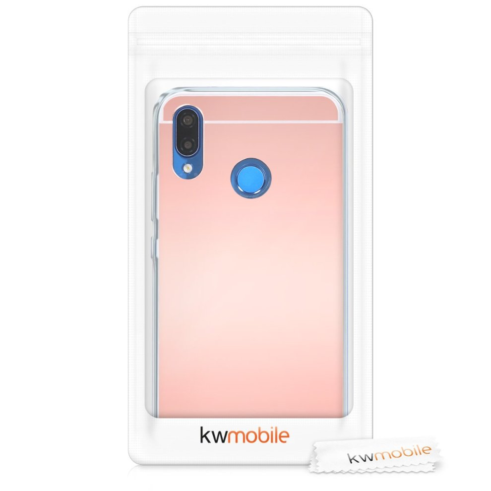 1505b7e79 ... kwmobile Mirror case for Huawei P20 Lite TPU Silicone Case Handy Cover,  Protective cover in. >