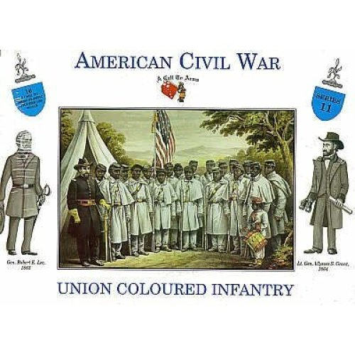 A Call to Arms 1/32 Coloured Union Infantry x 16 # 3211