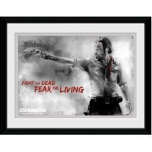 The Walking Dead Rick Framed Collector Print