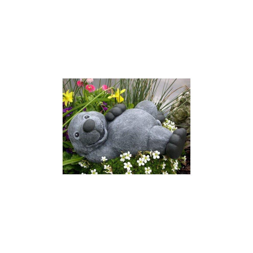 Slate gray Cast stone Garden ornament Hippo