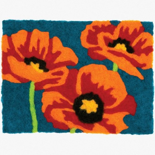 D72-73892 - Dimensions Needle Felting - Art: Poppies