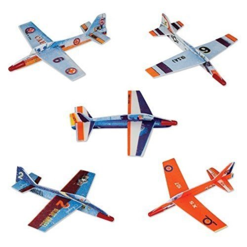 """(48) 7"""" Assorted Fighter Gliders"""