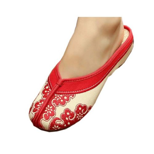 Womens Embroidered Summer Slippers Wedges Sandals Shoes for Cheongsam, #22