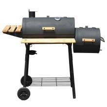 Outsunny Trolley Barbecue Smoker | Charcoal BBQ Smoker With Wheels