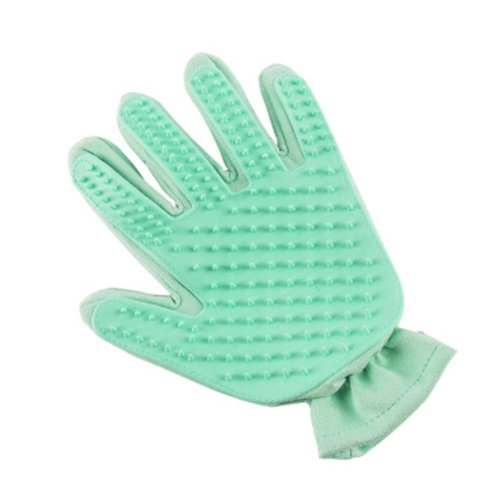 Pet Grooming Glove Gentle Brush Glove Left for Dogs Cats Horses