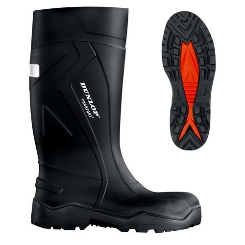 Dunlop C76204106 Purofort + Full Safety Black Wellingtons Size 6