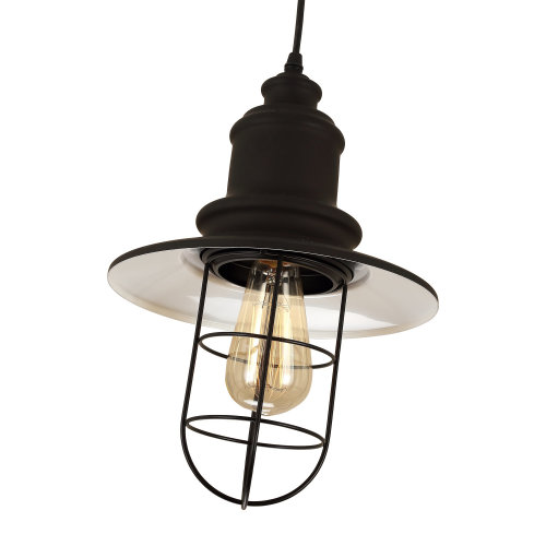 Homcom Modern Industrial Ceiling Lamp | Hanging Cage Ceiling Light