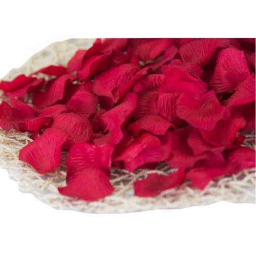 Dark  Red Artificial Rose Flowers Petals for Wedding Set of 840