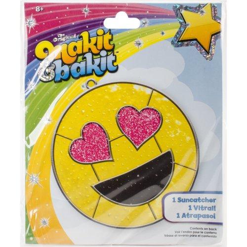 Makit & Bakit Suncatcher Kit-Emoji Heart Eyes