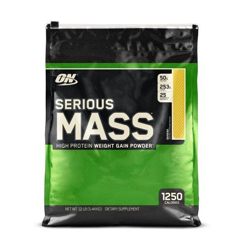 Optimum Nutrition Serious Mass Weight Gain Powder, 5.44 kg - Banana