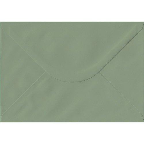 Vintage Green Gummed C5/A5 Coloured Green Envelopes. 135gsm GF Smith Colorplan Paper. 162mm x 229mm. Banker Style Envelope.